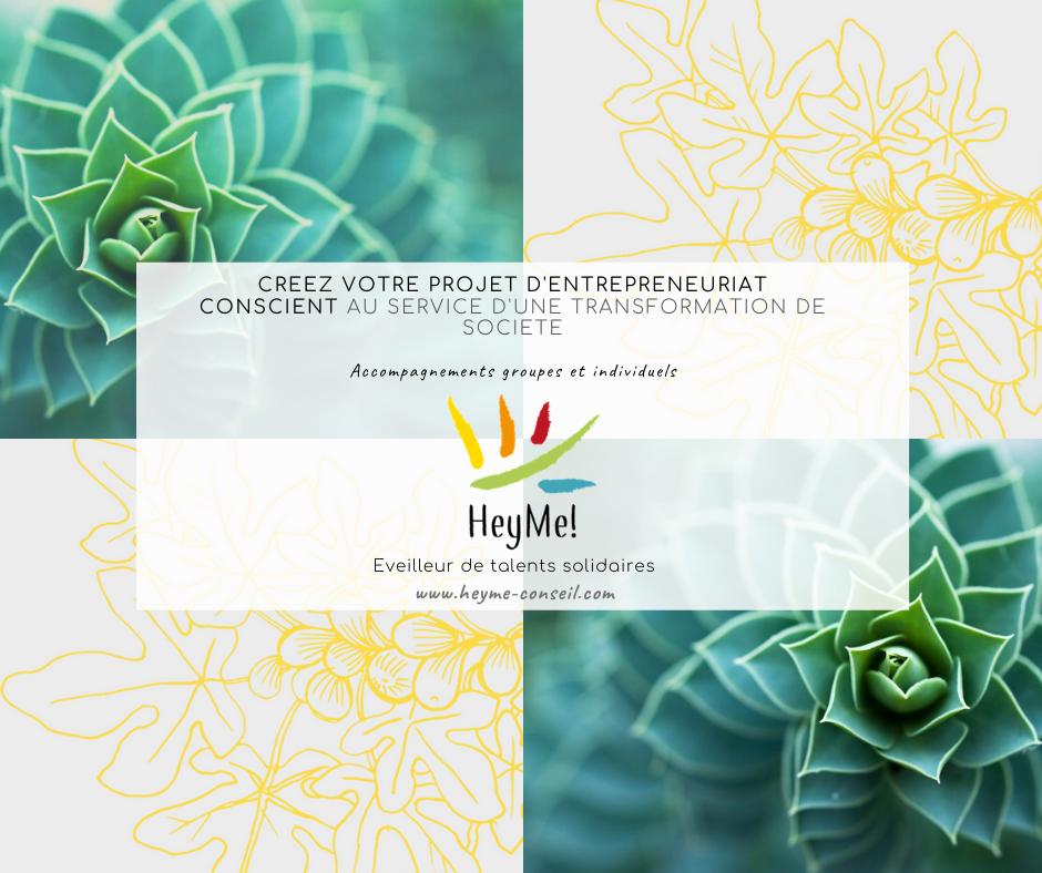 Il est temps ! En octobre 2020, créez votre projet d'entrepreneuriat conscient.